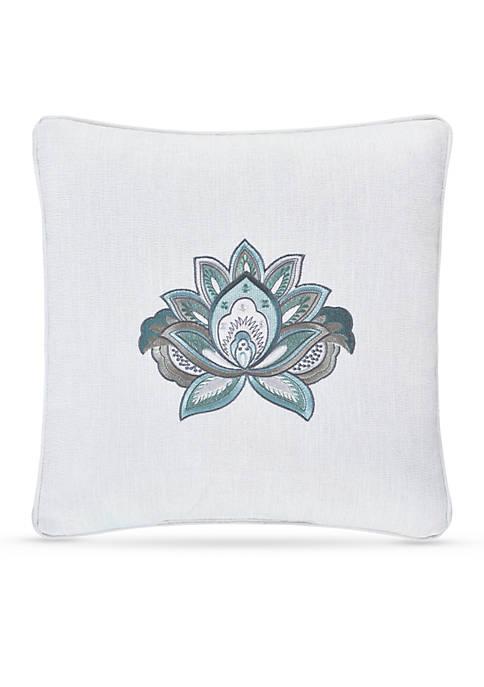 J Queen New York Atrium Embroidered Decorative Pillow