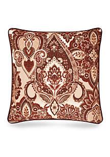 Rosewood Square Decorative Pillow