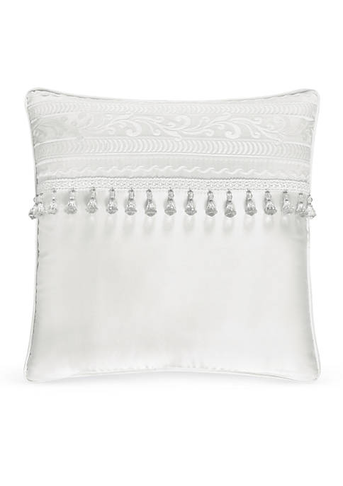 J Queen New York Bianco Embellished Decorative Pillow