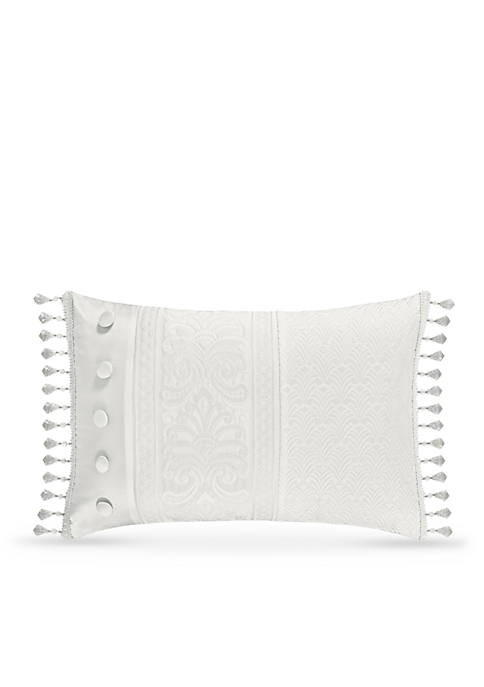 J Queen New York Bianco Boudoir Decorative Pillow