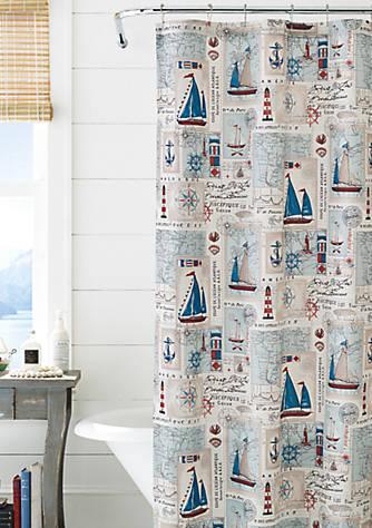 J Queen New York Harbor Shower Curtain | belk