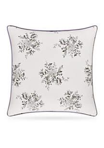 Sabrina Floral Square Pillow