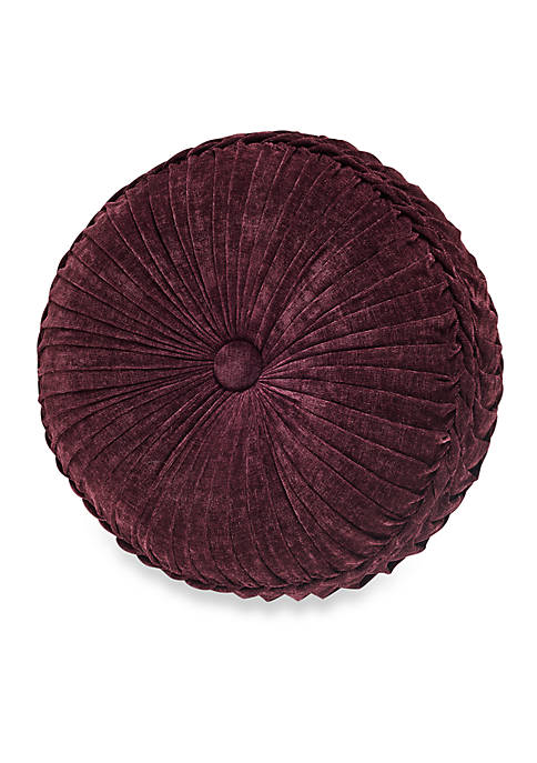J Queen New York Gianna Tufted Round Pillow