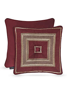 J Queen New York Crimson Square Decorative Pillow