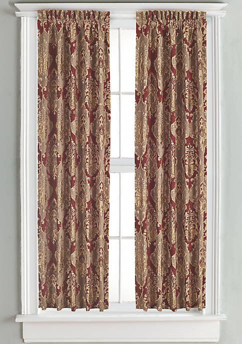 J Queen New York Crimson Lined Panel Pair