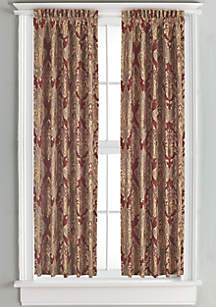 Crimson Lined Panel Pair