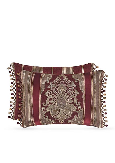 J Queen New York Crimson Boudoir Decorative Pillow