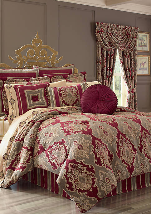 J Queen New York Crimson Comforter Set