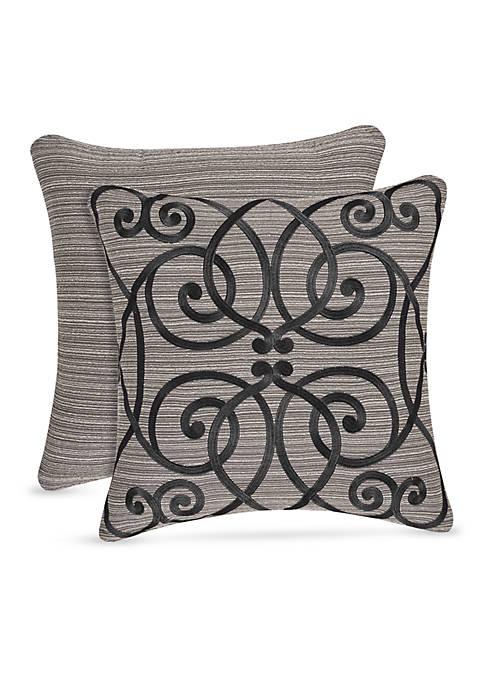 J Queen New York Raffaella Embroidered Pillow