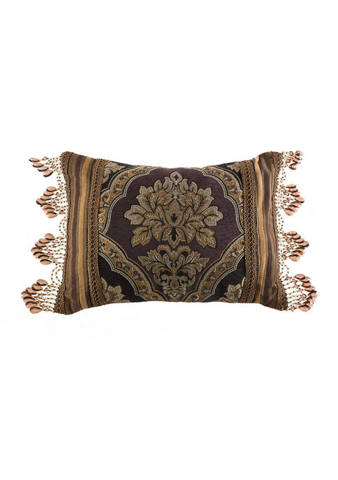 Five Queens Court Reilly Black Boudoir Decorative Throw