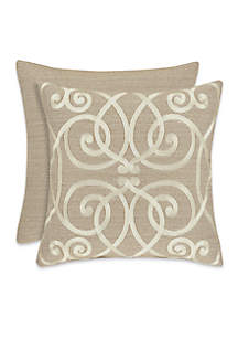 Romano Ice Embroidered Decorative Pillow