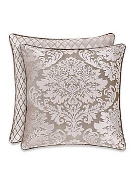 Bel Air Sand Damask Decorative Pillow
