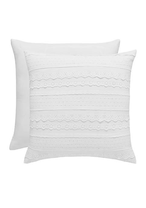 Piper & Wright Wynona Eyelet Decorative Pillow