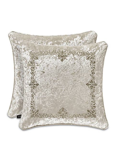 J Queen New York Dream Embroidered Square Decorative