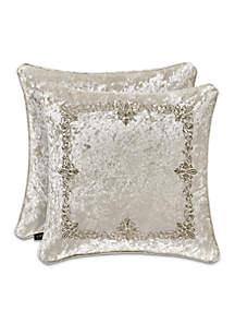 Dream Embroidered Square Decorative Pillow