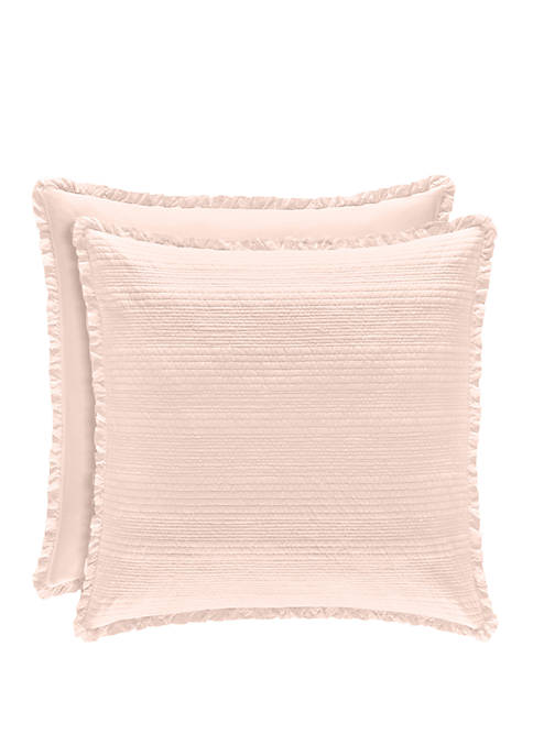 Piper & Wright Hadley Blush Euro Quilted Sham