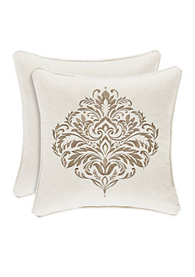 Milano Square Embroidered Throw Pillow