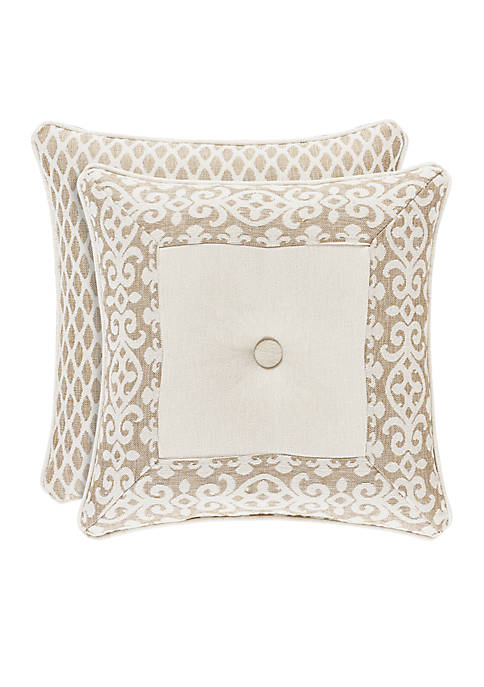 J Queen New York Milano Square Throw Pillow