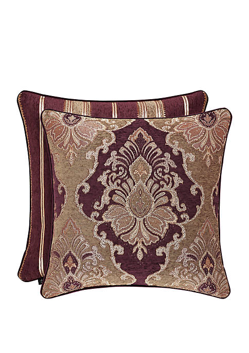 J Queen New York Amethyst Square Pillow