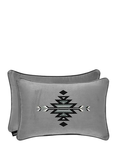 J Queen New York Brandon Silver Boudoir Pillow