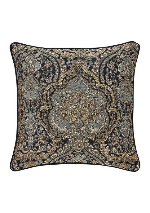 Five Queens Court Palmer Teal 20 Inch Square