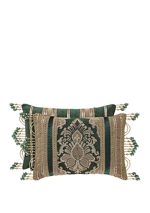 Emerald Isle Emerald Green Boudoir Pillow