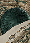 Emerald Isle Emerald Green Tufted Round Pillow