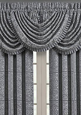Rigoletto Charcoal Waterfall Valance