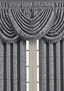 J Queen New York Rigoletto Charcoal Waterfall Valance