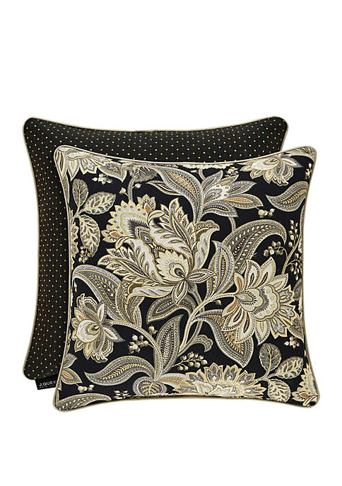 Midnight Mist Black 20 Inch Square Pillow