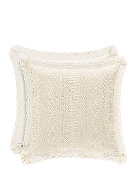 Sadie Natural 18 in Square Pillow