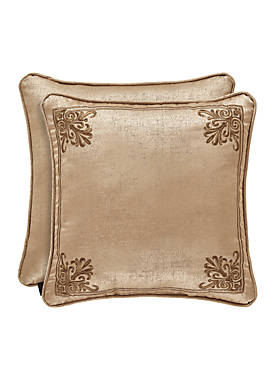 Sardinia Embroidered Square Throw Pillow