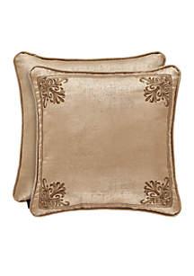 Sardinia Embroidered Square Throw Pillow