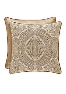 Sardinia Damask Square Throw Pillow