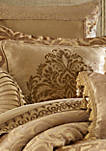 Sicily Gold 20 in Square Embellished Pillow