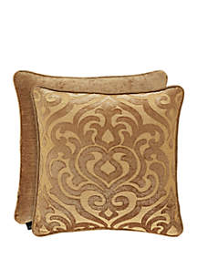 J Queen New York Sicily Gold 20 Inch Square Pillow