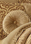 Sicily Gold Tufted Round Pillow