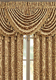 J Queen New York Sicily Gold Waterfall Valance