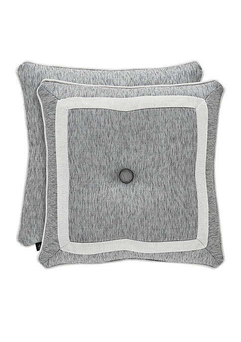 J Queen New York Pierce Button Tufted Throw