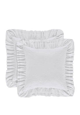 Emily White 20 in Square Pillow