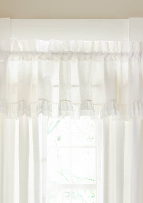 Piper & Wright Emily White Window Straight Valance