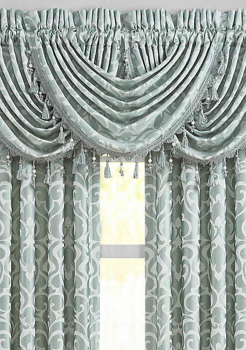 J Queen New York Lombardi Spa Waterfall Valance