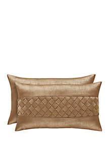 J Queen New York Sorrento Gold Boudoir Pillow