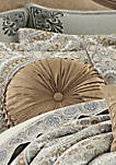 Sorrento Gold Tufted Round Pillow
