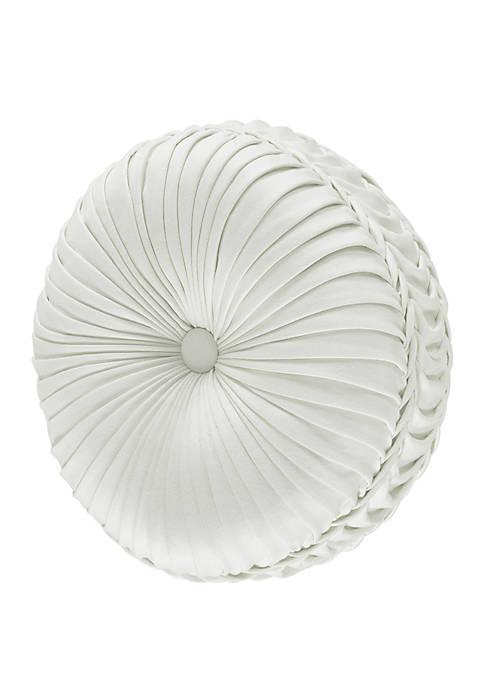 Dream White Tufted Round Pillow
