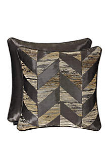 J Queen New York Sunrise Gold 18 in Square Pillow