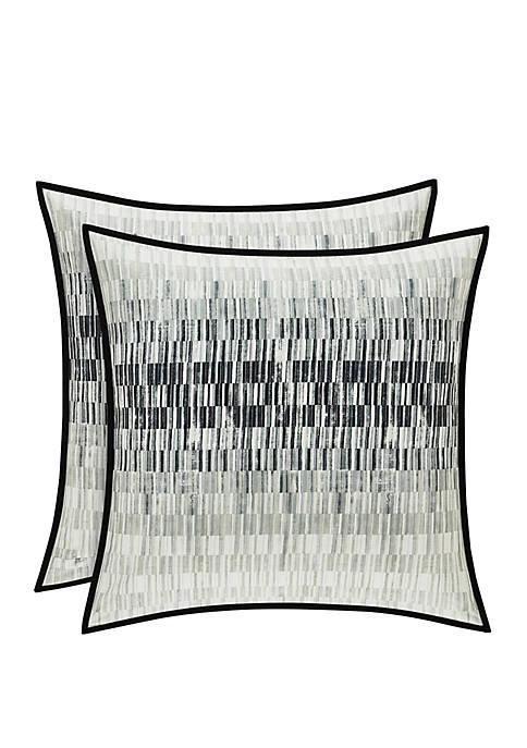 Oscar Oliver Flatiron Black 20 in Square Pillow