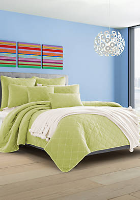 Oakland Green Twin Coverlet