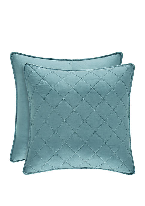 Oakland Teal Euro Quilted Sham