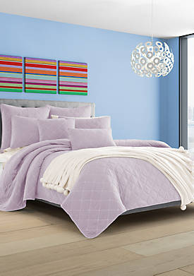 Oakland Lilac King Coverlet